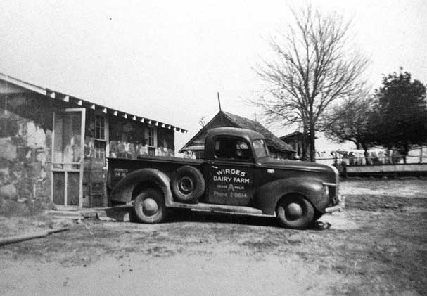 Wirges Dairy Farm's First Delivery Truck