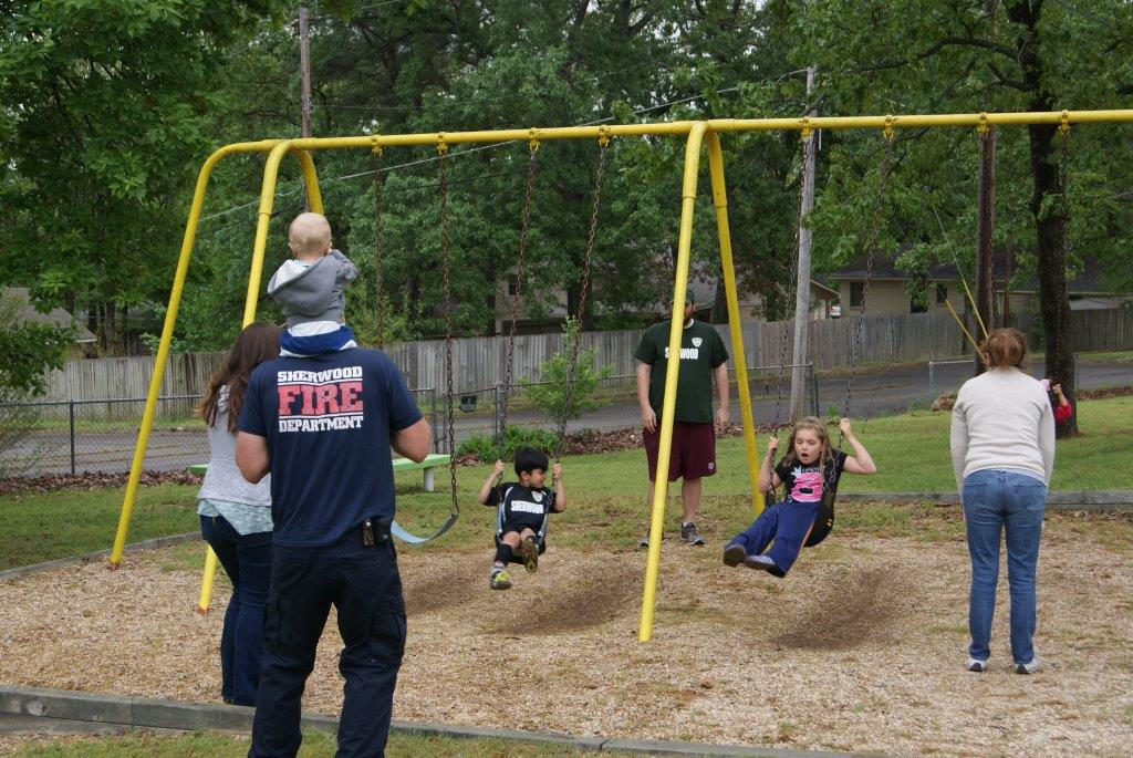 Photo of kids swinging at Duran Youth Center