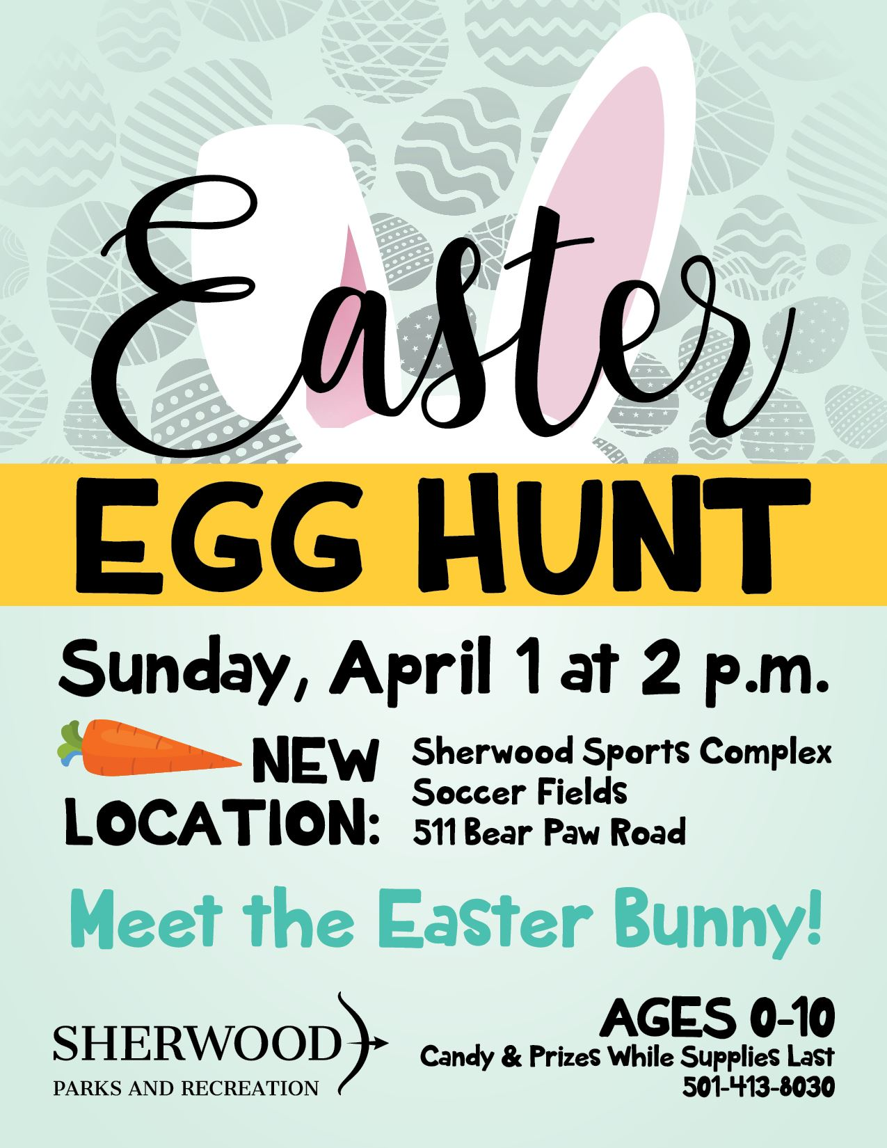 Flyer with details about Easter Egg Hunt