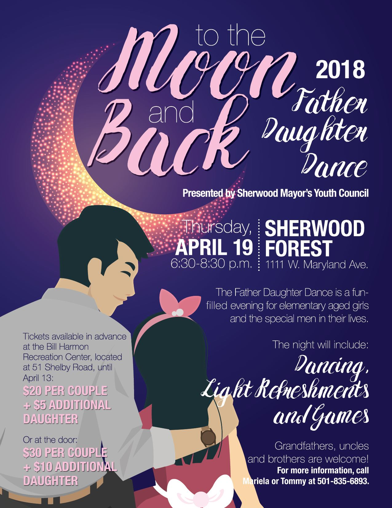Image of Flyer for To The Moon and Back Father Daughter Dance