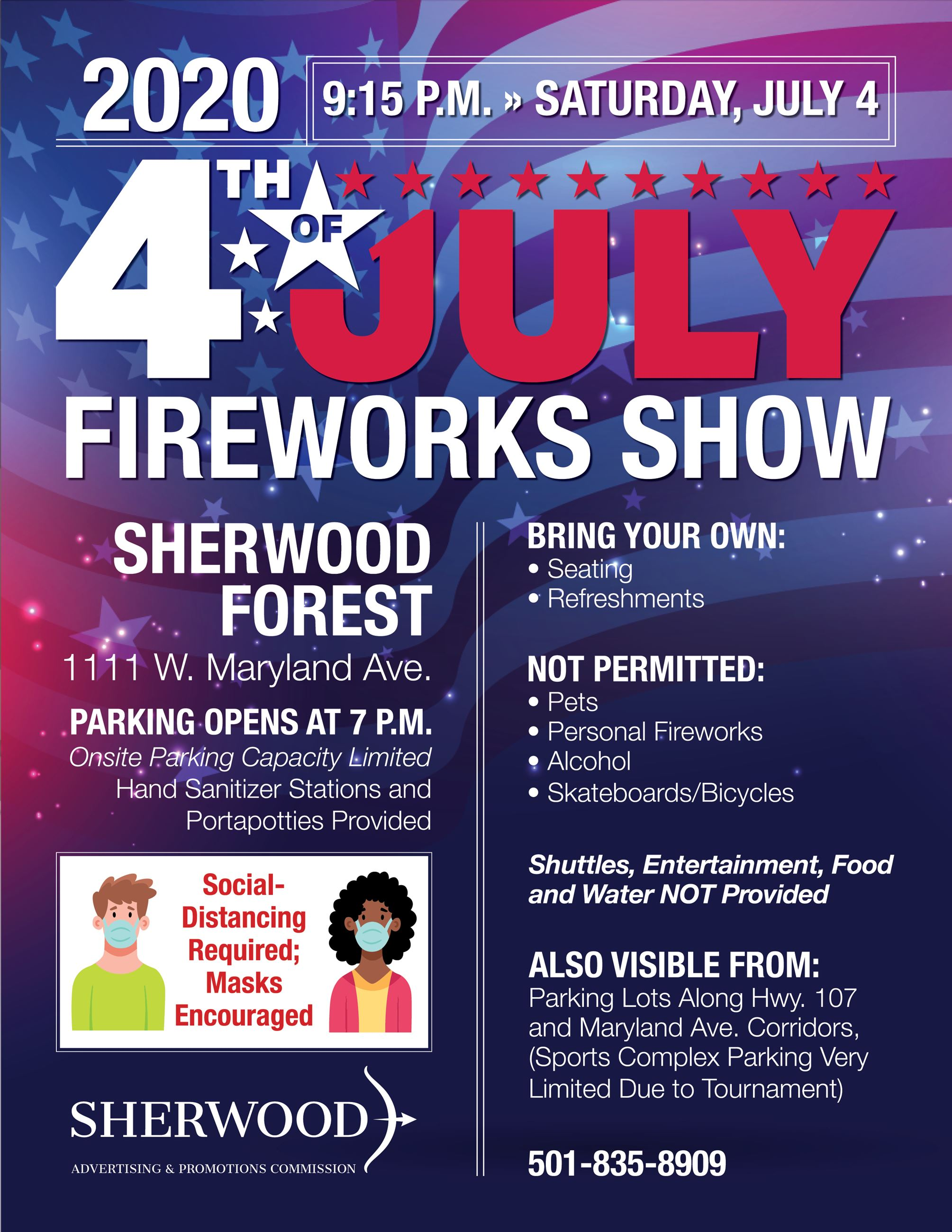 Image of 4th of July Fireworks 2020 Flier