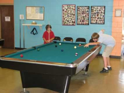 Children Playing Billiards